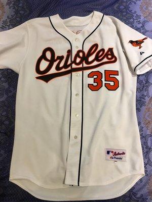 Mike Mussina MLB Majestic 絕版 巴爾的摩金鶯 球員版球衣 Size 48