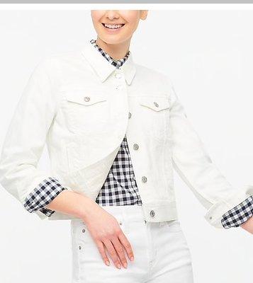 J  CREW Classic jean jacket in white wash限時
