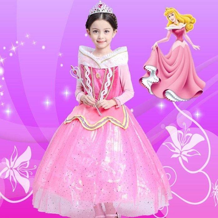 兒童萬聖節聖誕節服裝禮服衣服灰姑娘女童白雪公主裙演出服 全館免運