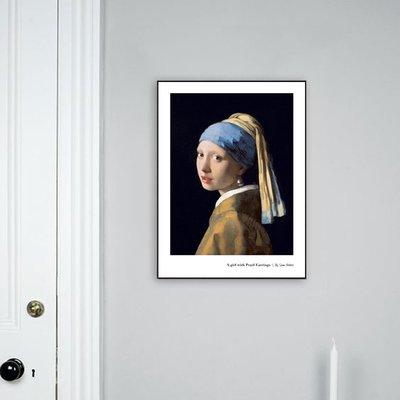 簡約北歐文藝復古大師油畫女人藝術人物裝飾畫