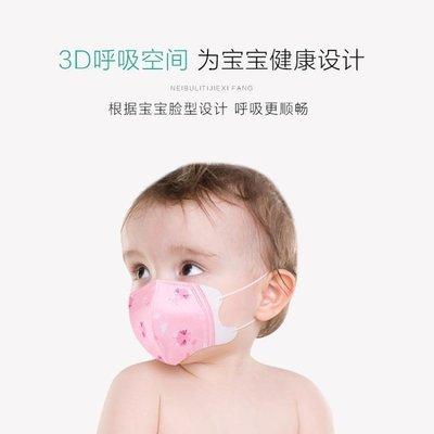 嬰幼兒童口罩一次性女童嬰兒0-1歲小孩專用寶寶春夏薄款透氣防風