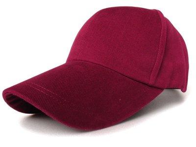 帽子專賣店【優質斜紋細磨布料☆K719-1☆ 素面棒球帽-酒紅】