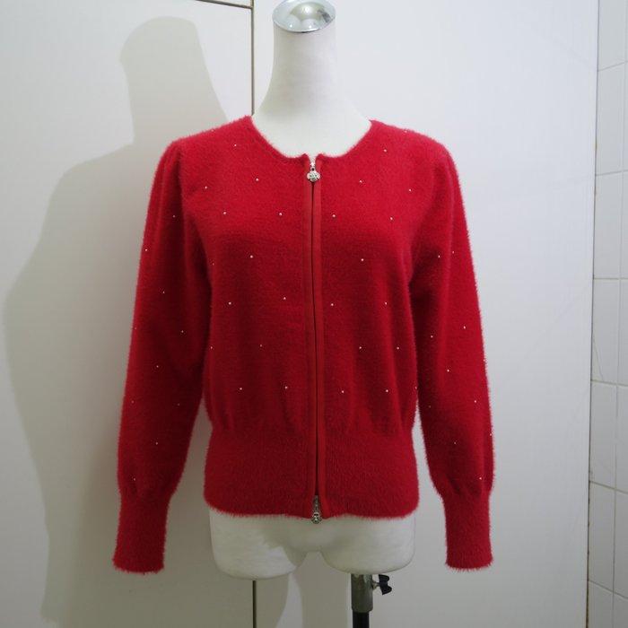 ☆注目のM'S Gracy 秋冬紅色雙拉鍊毛衣外套☆
