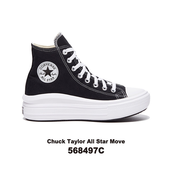 【QUEST】CONVERSE CHUCK TAYLOR ALL STAR MOVE 厚底 高筒 帆布鞋 568497C