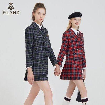 時尚  熱銷【99】ELAND衣戀年秋季新款學院風甜美高腰a字百褶裙女