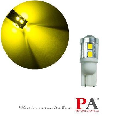 【PA LED】24V 特調光色 T10 T15 10晶 2835 SMD LED 魚眼透鏡 黃金光 黃光 方向燈 小燈