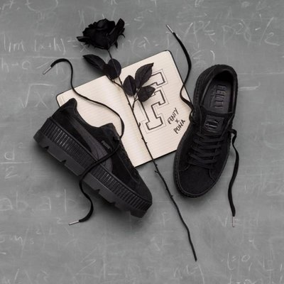 PUMA CLEATED CREEPER SUEDE增高厚底鞋(全黑)366268-04 百搭