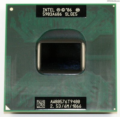 【含稅】Intel Core 2 Duo Mobile T9400 2.53G 雙核 35W 正式CPU 一年保