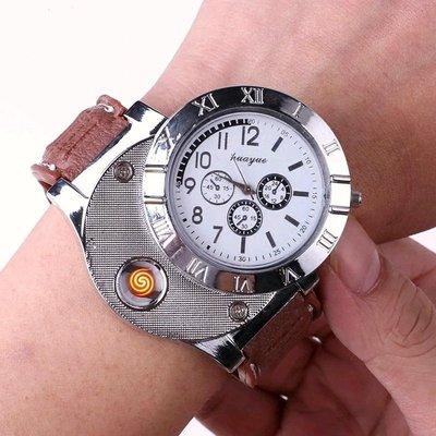 真手錶 大特價 脈衝充電式打火機 白色羅馬主盤 棕色錶帶 手錶造型功能可正常運作使用的 手感很好 也可帶上飛機唷 創意環保又實用 送禮自用兩相宜
