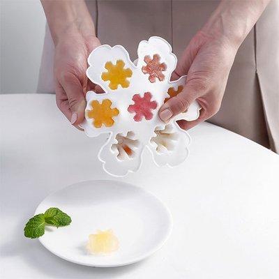 【創意蒐藏家】雪花造型冰格 創意冰塊果凍模具 矽膠製冰盒