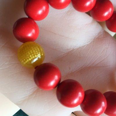新精雕刻台灣硃砂紅12mm圓珠創意手鍊手珠 轉運吉祥保平安 特價中