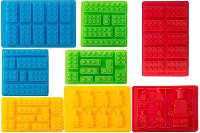 【雍容華貴】美國購入Bargain 樂高積木軟糖製冰盒/果凍/手工皂/蠟筆肥皂模,組合包含包含黃綠紅藍各2