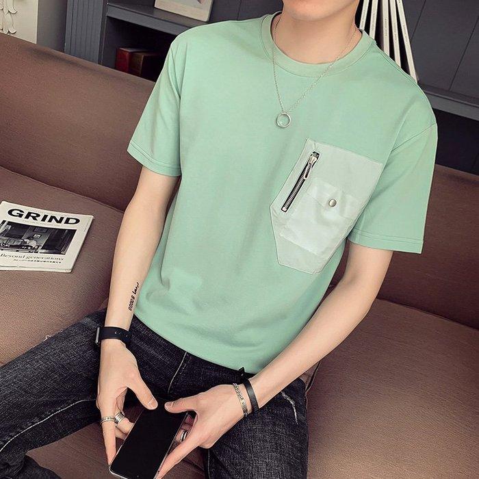 吉部 實拍 2019夏季新品 男士原創口袋設計短袖T恤現貨 免運