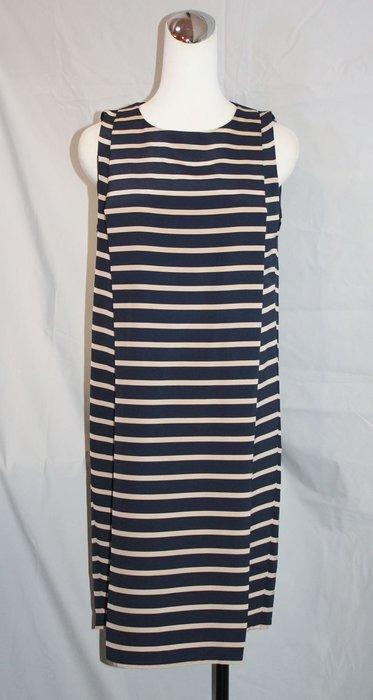 海洋工坊名牌二手旗艦店~SOPHIE HULME極顯瘦橫紋洋裝 ~~~夏季回饋特價~~~
