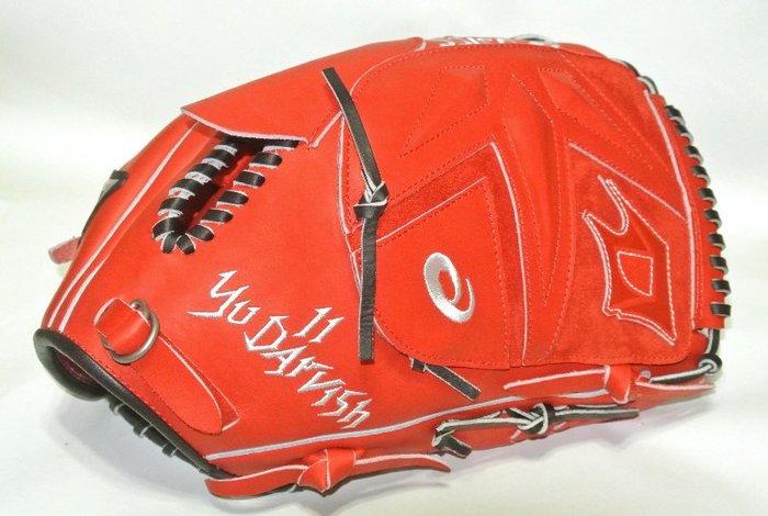 貳拾肆棒球-超限量日本帶回Asics Goldstage契約選手達比修式樣硬式投手手套