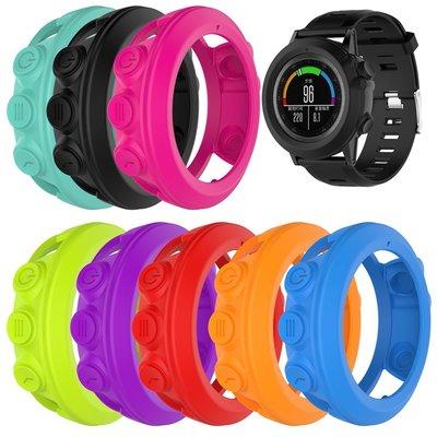 丁丁 佳明 Garmin Tactix Bravo Quatix 3 純色智能手錶錶盤防老化保護套 帶防塵塞防磨損保護殼