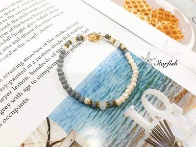 【海星 Starfish】異材質光澤多角珠彈性手環