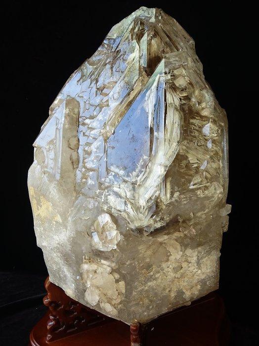 ~shalin-crystal~巴西鱷魚骨幹水晶~41.08公斤~完整度高~除穢聚氣~化煞聚財~低價起標!