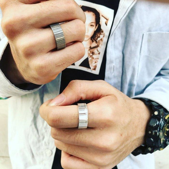 999個性戒指 指環 戒指環 創意 男戒歐美風復古男士戒指幾何條形創意個性情侶男女簡約戒指潮品