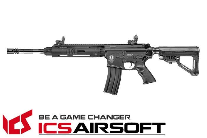 【翔準軍品AOG】ICS CS4A1 圓管護木短版(黑)EBB 電動槍 全金屬 生存遊戲 ICS-323