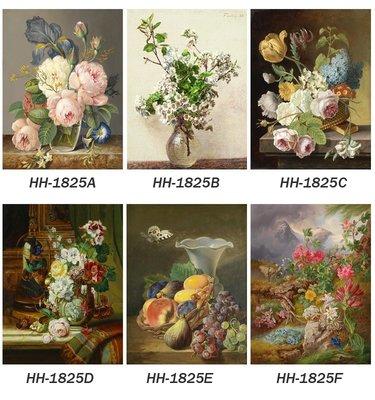 三幅一組油畫布 花卉物語 畫芯/畫布/30X40☺暖暖屋☺傢居藝術館