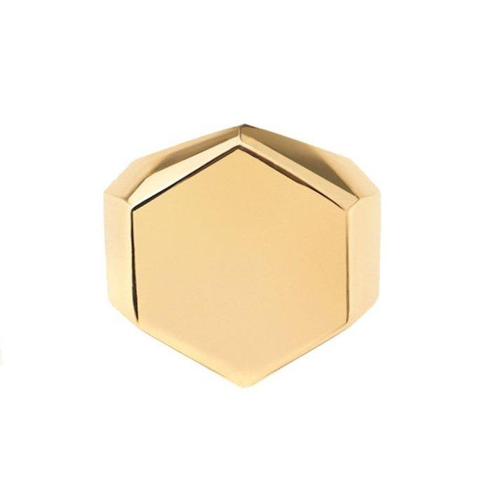 藤原本鋪 SOLO Basic Hexagonal Ring 簡約六角戒指 正六角戒 金色