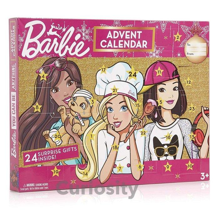 【Curiosity】現貨!Barbie芭比娃娃文具飾品降臨節日曆 耶誕倒數 耶誕禮物$1400↘$1199免運