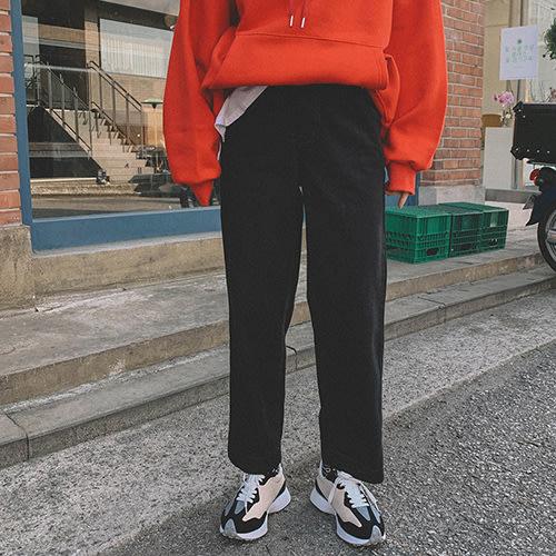 i-Mini 正韓|個性後腰鬆緊寬鬆直筒休閒褲|SML‧ 韓國連線‧代購‧空運【12072511LY】