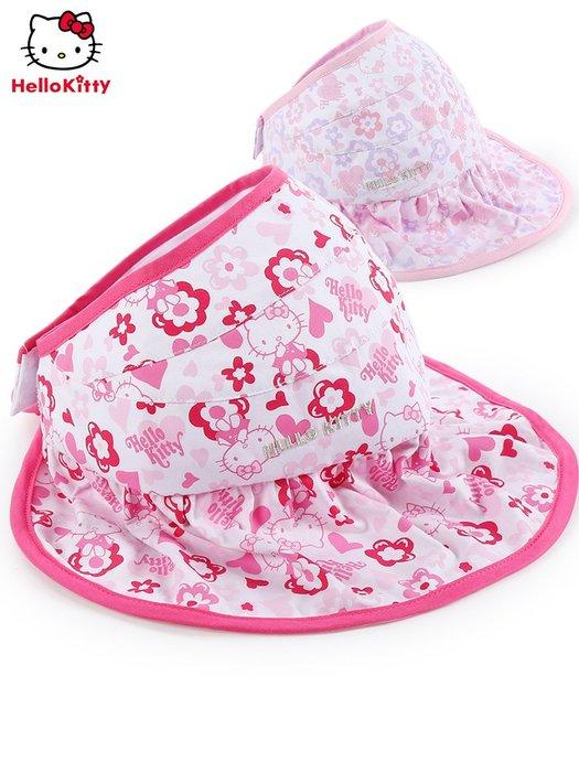 預售款-LKQJD-凱蒂貓寶寶帽子春秋夏薄款兒童太陽帽女孩公主可愛女童防曬遮陽帽