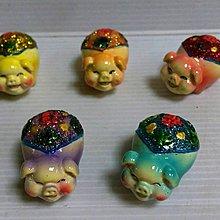 龍廬-庫存出清~波麗彩繪五色招福豬(5個顏色一組)/不拆賣不挑色  手作DIY組裝 玩具擺件 園藝擺飾