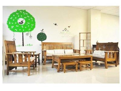 【新集傢俱】簡約峇里島風/ 柚木沙發 / 組椅/ 板椅 0502-819