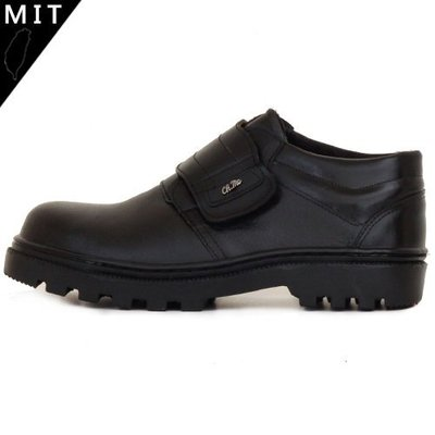 男款 MIT真皮魔鬼氈寬楦鋼頭 耐磨止滑側邊縫線 安全鞋 工作鞋 Ovan