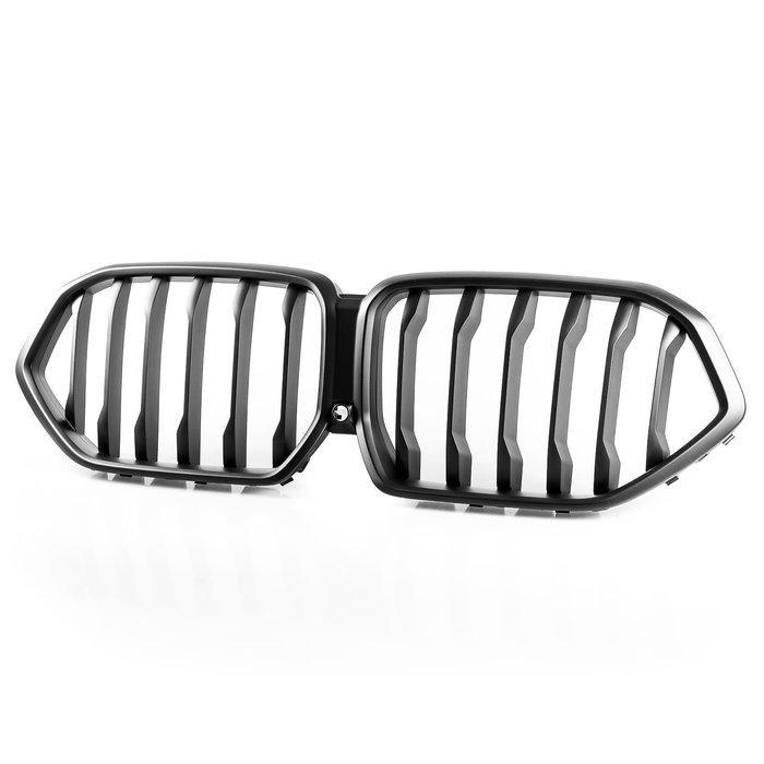[消光黑] ABS水箱罩前格柵鼻頭 BMW X6 G06用 2019-2020年式適用 W/ Camera Hole