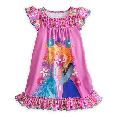 【豆芽Tsai美國商品】美國正品迪士尼 Disney 冰雪奇緣  短袖連身睡衣  [  590元 含運費  ]