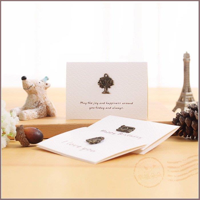 復古金屬迷你卡片-4款可挑(附信封)-祝福卡 生日卡 教師節 情人節 感謝卡 母親節卡片 禮物卡片 拍照道具