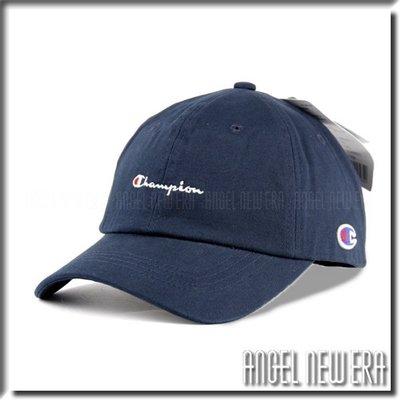 【ANGEL NEW ERA 】日線 Champion 台灣公司貨 草寫 老帽 軟版 海軍藍 深藍色 鴨舌帽 潮流