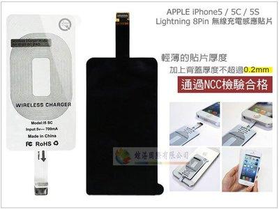 鯨湛國際~Apple iPhone 5 5C iPhone 6(4.7吋) 無線充電感應貼片 Qi無線接收片 NCC認證