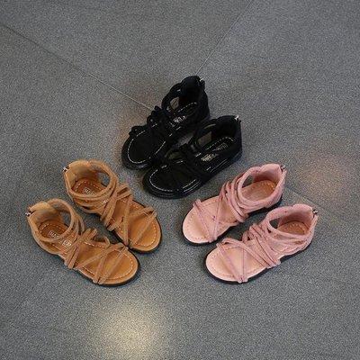 VEDO生活館 夏季新款童鞋女童涼鞋韓版兒童羅馬鞋寶寶軟底女孩小公主鞋子VE328