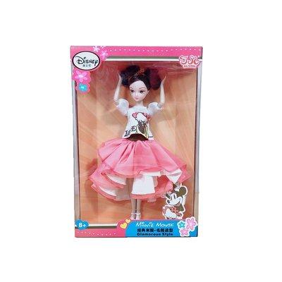 正版 可兒 迪士尼 聯名款 米妮 經典米妮 名媛造型 娃娃 多關節