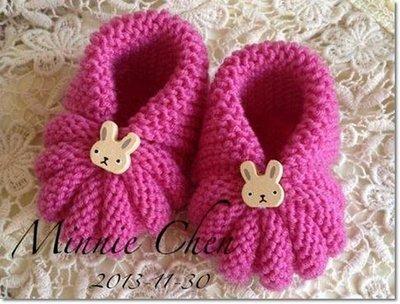 ☆彩暄手工坊☆ baby毛線鞋(南瓜鞋~素色)材料包~任選色!手工藝材料、編織工具、進口毛線 ~