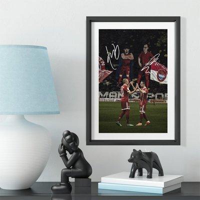 世界杯YYDS~羅本里貝里組合經典紀念款相框送球迷禮物足球公園球館裝飾