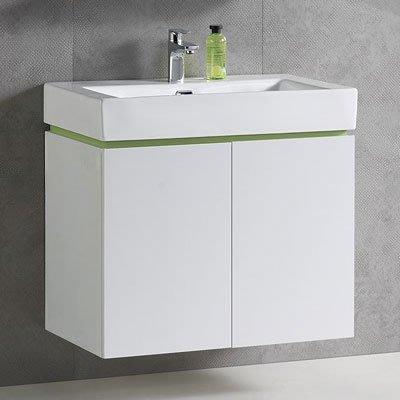 《101衛浴精品》77CM 方型陶瓷抗污面盆浴櫃 全防水發泡板 5層環保亮面鋼琴烤漆【全台大都會免運費 可貨到付款】