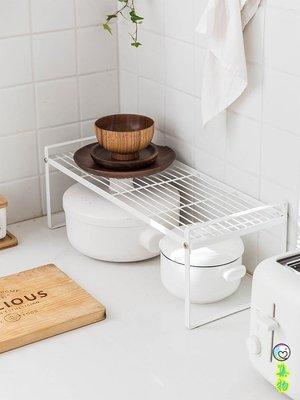 (2件免運)廚房鐵藝分層置物架櫥柜多層收納架碗鍋調味罐儲物架子 集物生活