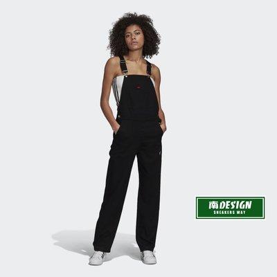 南 2020 8月 ADIDAS R.Y.V. DUNGAREES 吊帶褲 GD3877 黑 白紅 休閒帥氣吊帶長褲