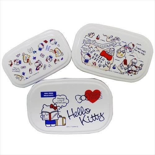 41+ 現貨免運費 日本製 HELLO KITTY 保鮮盒組  三入 餐盒 小日尼三 團購 批發 優惠 現貨 不必等