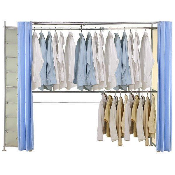【中華批發網DIY家具】AH-06-H-03-154-(雙桿+PP櫃)伸縮防塵衣櫥(側邊為不織布)