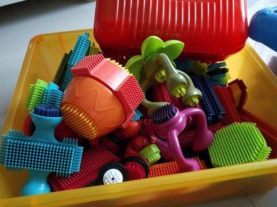 b toys 布萊斯特鬃毛積木(大)+叢林冒險+我們一家