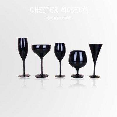 【現貨】純黑色玻璃紅酒杯組 紅酒杯組 葡萄酒杯組 紅酒杯 葡萄酒杯 香檳杯組 香檳杯 酒杯 酒杯組 玻璃杯 高腳杯