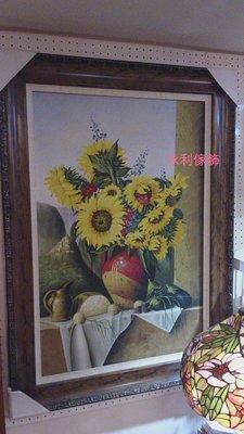 手繪太陽花油畫