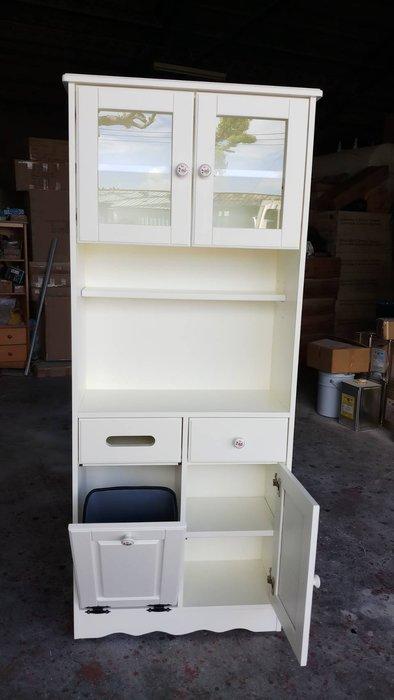 鄉村家具 客製化 訂製品 美生活館 白色 多功能茶水櫃 餐櫃 收納櫃 面紙 垃圾桶 碗盤櫃 飲水機櫃